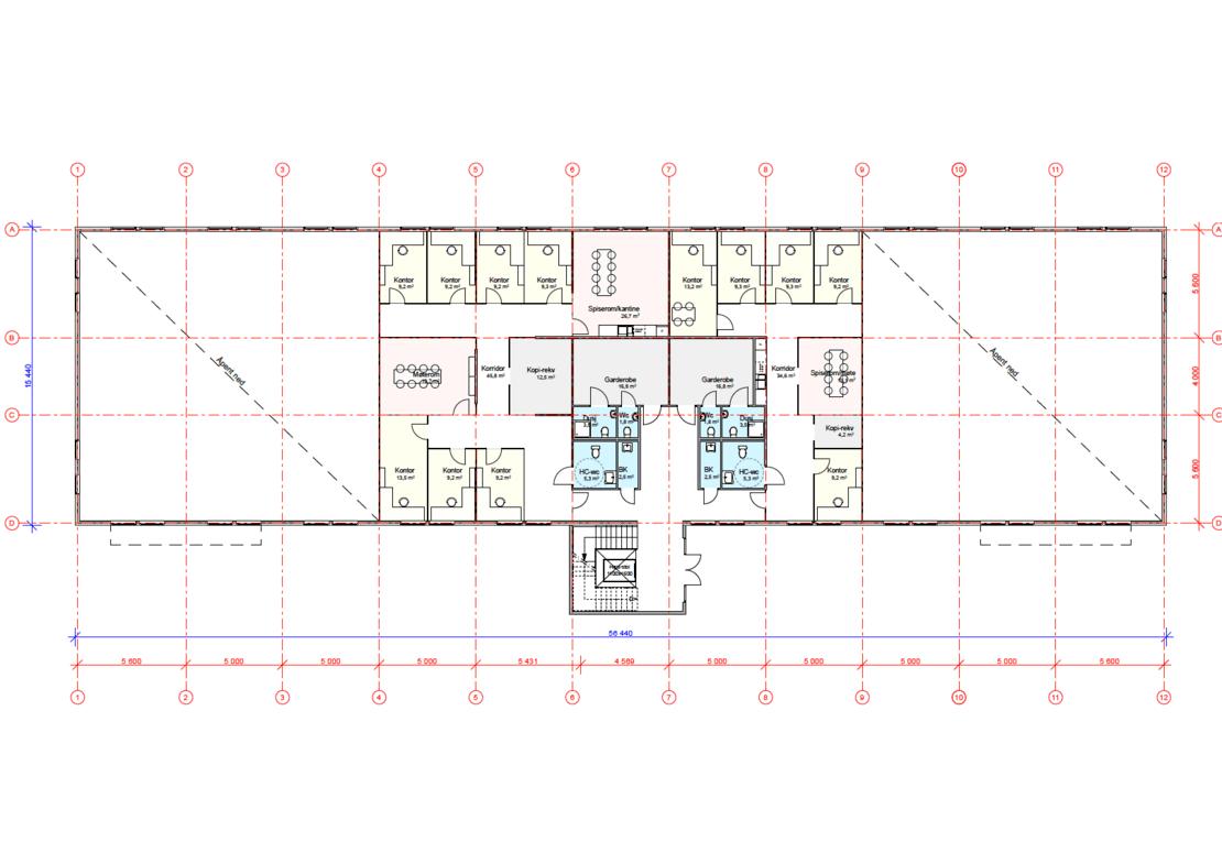 Gråterudveien 8, Plan 2. etg, bygg B
