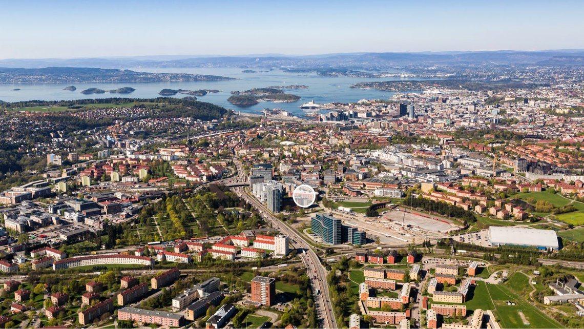 Flyfoto av Helsfyr