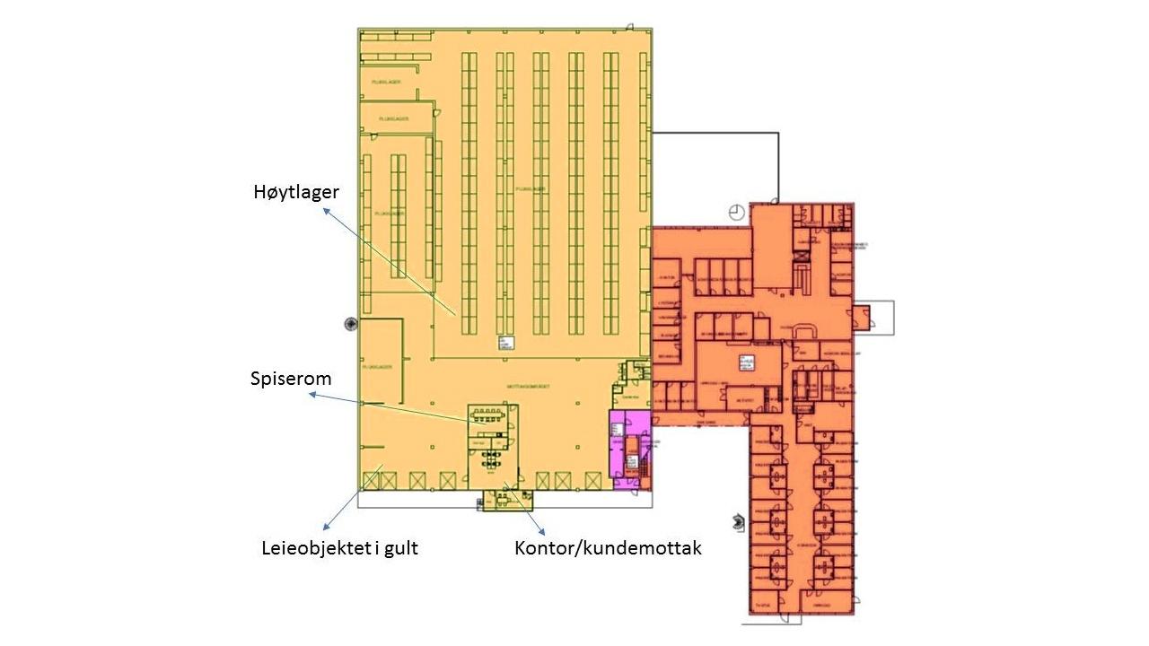 Plantegning av Brugata 19, 6. etasje